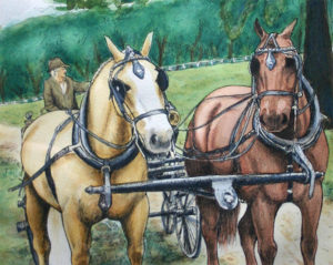 carriage horse watercolor category