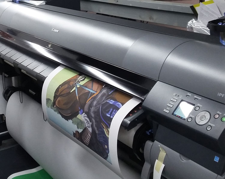 The giclée in the process of being printed at Image-Tec Methuen MA.