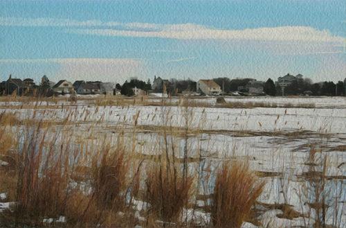 Newburyport marshes digital artwork
