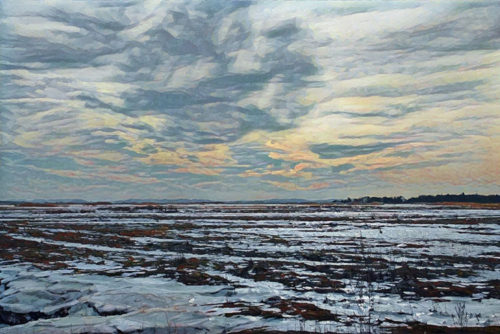 Newburyport marshes sunset digital artwork