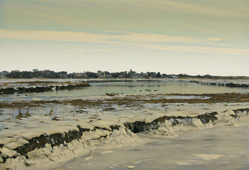 Newburyport marshes winter digital artwork