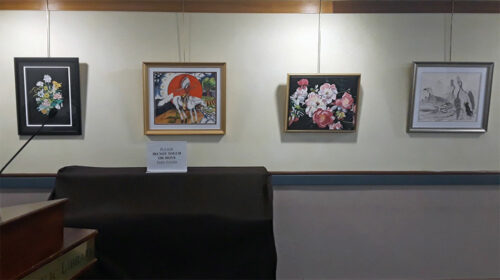 Beverly Public Library art show by Beverly artist, Sheila Alden is being held in the Sohier Room during the month of December.
